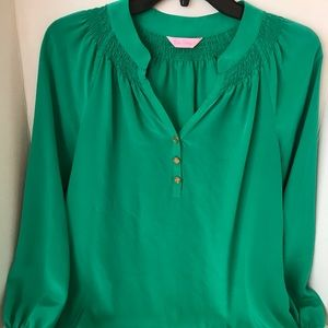 Emerald green Lilly Pulitzer silk tunic